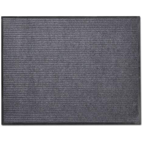 Alfombra de entrada de PVC gris, 90 x 150 cm