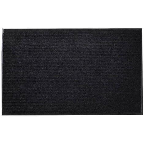 Alfombra de entrada de PVC negra, 90 x 150 cm
