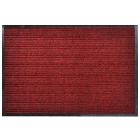 Alfombra de entrada de PVC roja, 90 x 150 cm