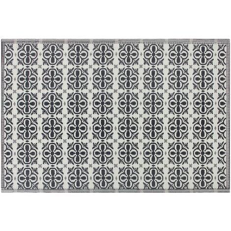 Alfombra de exterior negro/blanco 180x270 cm NELLUR