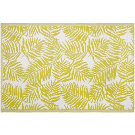 Alfombra de exterior reversible amarilla 120x180 cm KOTA