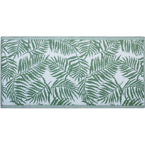Alfombra de exterior reversible verde 90x150 cm KOTA