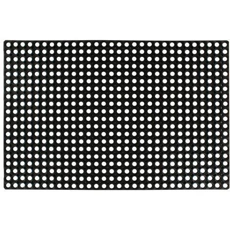 Alfombra de goma 16 mm 80x120 cm - Negro