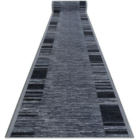 """main image of """"Alfombra de pasillo con refuerzo de goma ADAGIO gris Tonos de gris y plata 57x300 cm"""""""