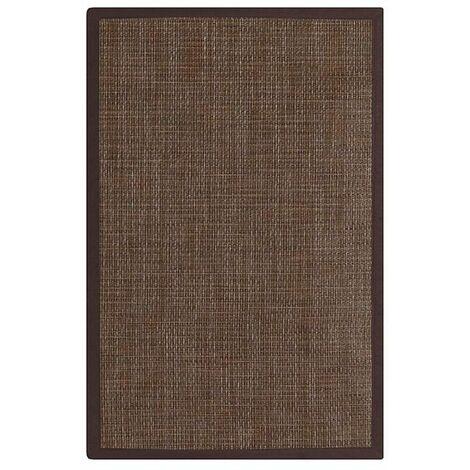 Alfombra de polipropileno para exterior marrón clásica 60x90 cm