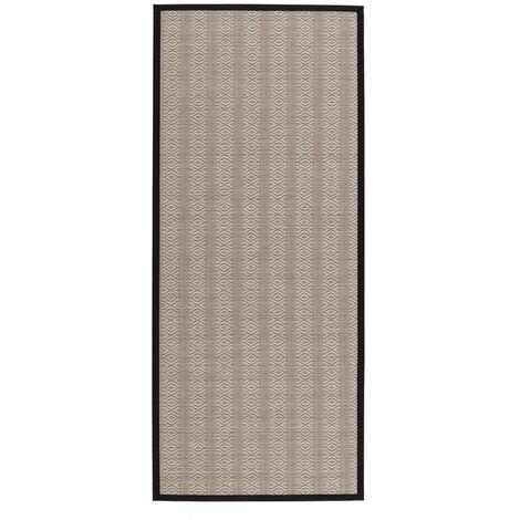 Alfombra de polipropileno pasillera para exterior beige de 175x75 cm