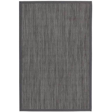 Alfombra de polipropileno pasillera para exterior gris de 90x60 cm