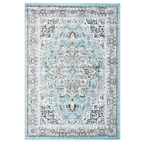 Alfombra de PP azul claro 140x200 cm