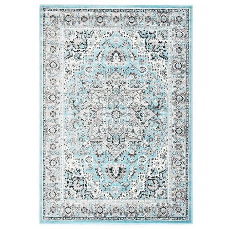 Alfombra de PP azul claro 160x230 cm