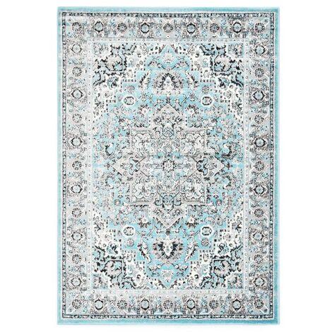 Alfombra de PP azul claro 80x150 cm