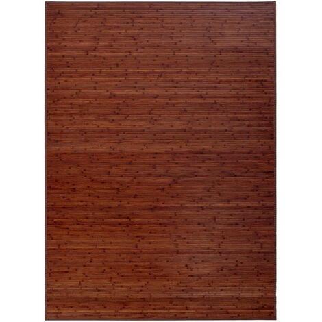Alfombra de salón de bambú marrón industrial de 250x180 cm
