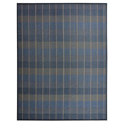 Alfombra de Salón o Comedor, Azul, de Bambú Natural de 140 x 180 cm Natur, 140x180. New Collection 140 x 180 cm Azul