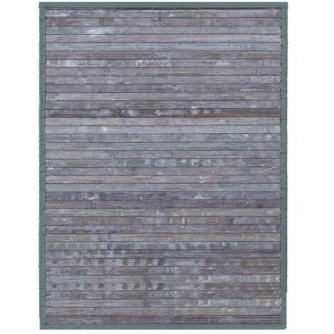 Alfombra de Salón o Comedor, Casiopea en Gris Celeste, de Bambú Natural, 200 X 300 cm Natur, 200x300 - Hogar y Más 200 x 300 cm Gris