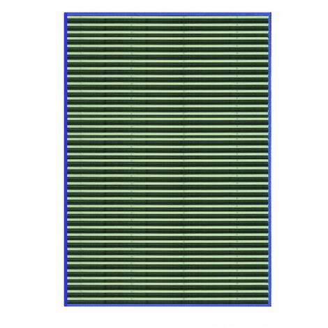 Alfombra de Salón o Comedor, de Rayas Azules, de Bambú Natural 200 X 300cm Natur, 200x300 - Hogar y Más 200 x 300 cm Azul
