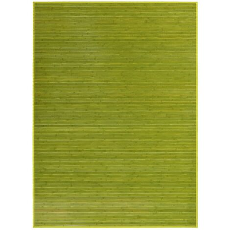Alfombra de Salón o Comedor, Verde, de Bambú Natural 180 X 250cm Natur, 180x250 - Hogar y Más 180 x 250 cm Verde