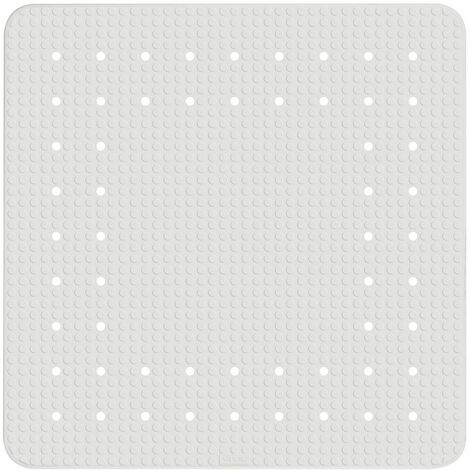 Alfombra ducha antideslizante pvc gris cuadrada 54x54cm
