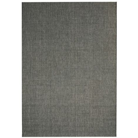 Alfombra exterior/interior 140x200 apariencia sisal gris oscuro