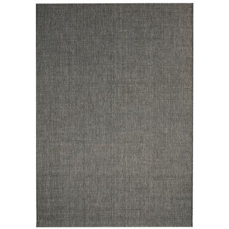 Alfombra exterior/interior 140x200 apariencia sisal gris oscuro - Gris