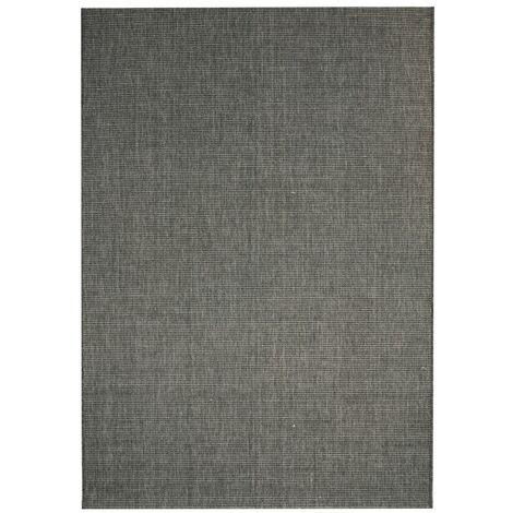 Alfombra exterior/interior 160x230 apariencia sisal gris oscuro