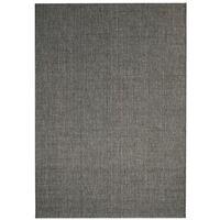 Alfombra exterior/interior 80x150 apariencia sisal gris oscuro