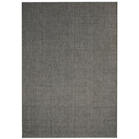 Alfombra exterior/interior 80x150 apariencia sisal gris oscuro - Gris
