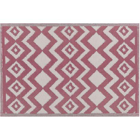Alfombra exterior rosa 120x180 cm DEWAS