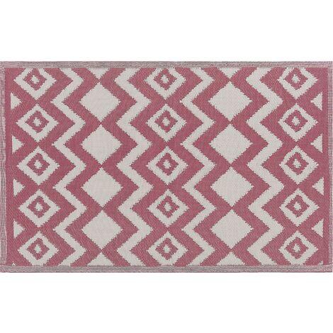 Alfombra exterior rosa 180x270 cm DEWAS