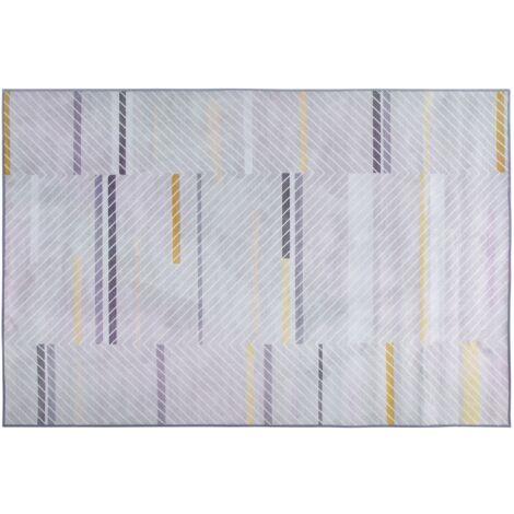 Alfombra gris/amarillo 140x200 cm ERGENLI
