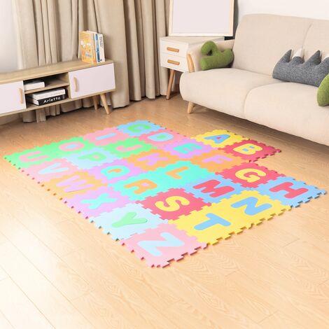 Alfombra infantil y de juego letras puzzle bebe habitacion niños en espuma EVA
