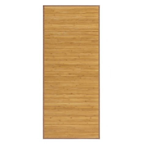 Alfombra Pasillera, colo Madera Natural, de Bambú Natural 60 X 200cm, Natur 60x200 - Hogar y Más 75 x 175 cm Marron