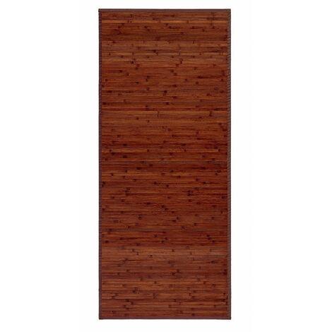 Alfombra Pasillera, color Madera, de Bambú Natural 75 X 175cm, Natur 75x175 - Hogar y Más 75 x 175 cm Marron