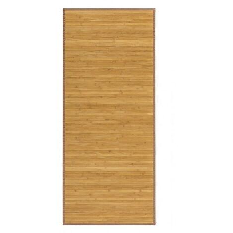 Alfombra Pasillera, de color Madera Natural, de Bambú Natural 75 X 175 cm, Natur 75x175 -Hogar y Más 75 x 175 cm Marron