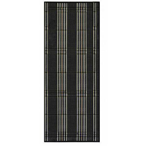Alfombra Pasillera, de Color Negro, con Rayas Negras y Beige, de Bambú Natural 180 X 75 cm, Natur 180x75 - Hogar y Más 75 x 180 cm Gris