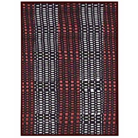 Alfombra Pasillera, de Rayas Blancas y Rojas, de Bambú Natural 175 X 75cm Natur, 175x75 - Hogar y Más