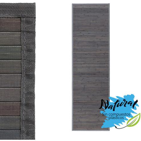 Alfombra Pasillera, Gris, de Bambú Natural 60 X 200cm Natur, 60x200 - Hogar y más