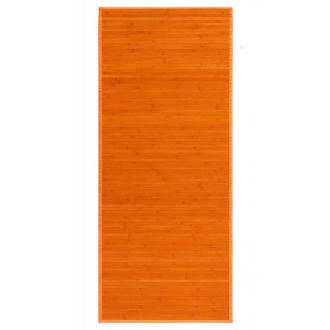 Alfombra Pasillera, Naranja, de Bambú Natural 75 X 175cm, Natur 75x175 - Hogar y Más 75 x 175 cm Naranja