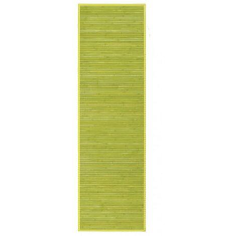 Alfombra Pasillera, Verde, de Bambú Natural 60 X 200cm, Natur 60x200 - Hogar y Más