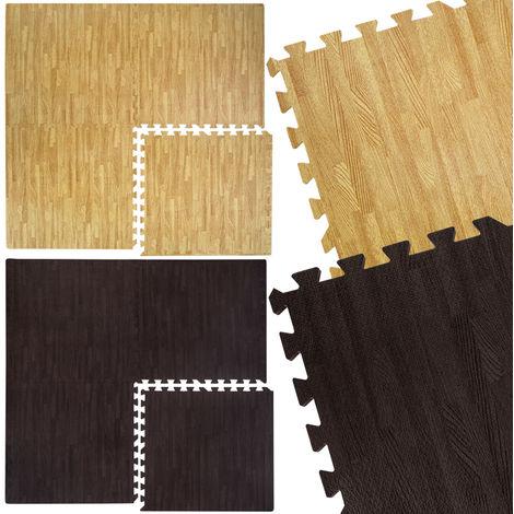 Alfombra Puzle 60x60cm color de la madera