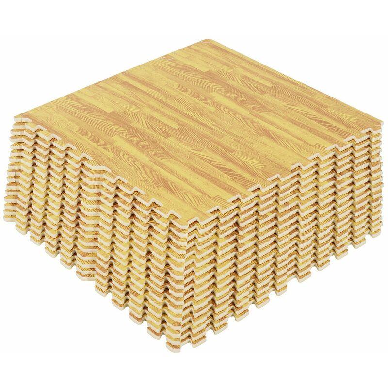 6569e672a87 Alfombra Puzzle para Niños o Gimnasio– Color madera – Goma Espuma EVA – 60  x 60 x 1cm Madera