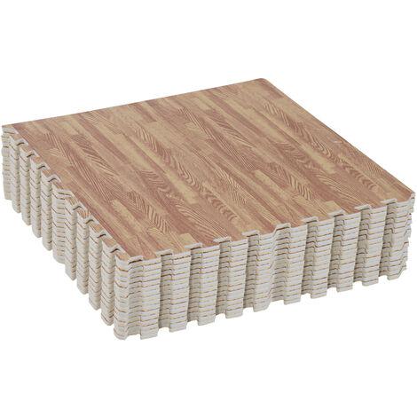 bd0c3cf9ed7 Alfombra Puzzle para Niños o Gimnasio– Color marrón – Goma Espuma EVA – 9  metros cuadrados Marron