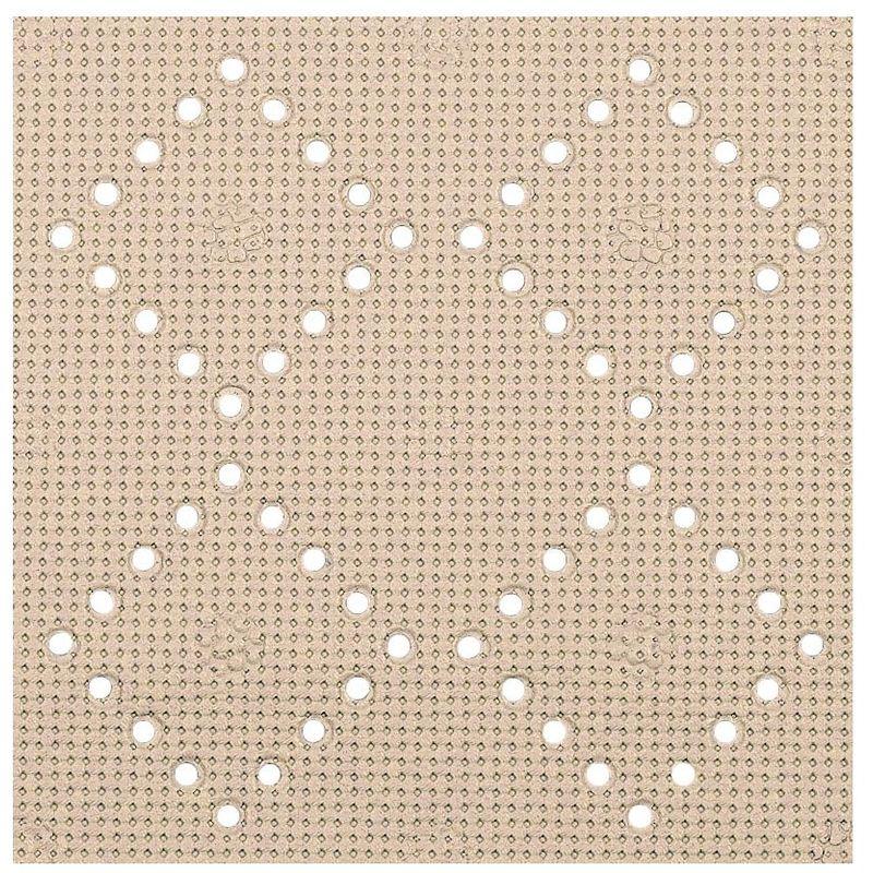 Alfombrilla de ducha Spirella 'Alaska' de PVC en color marron 71 x 36 cm