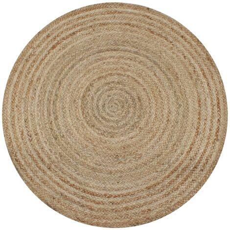 Alfombra redonda 150 cm yute trenzado