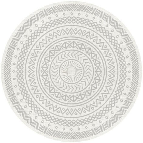 Alfombra Redonda étnica, alfombra de vinilo acolchada ideal para salón, comedor, dormitorios