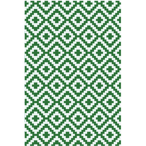 alfombra reversible interior / exterior 180x90cm - madagascar90cm - red deco -