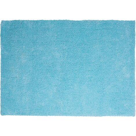 Alfombra shaggy en color azul claro 140x200 cm DEMRE