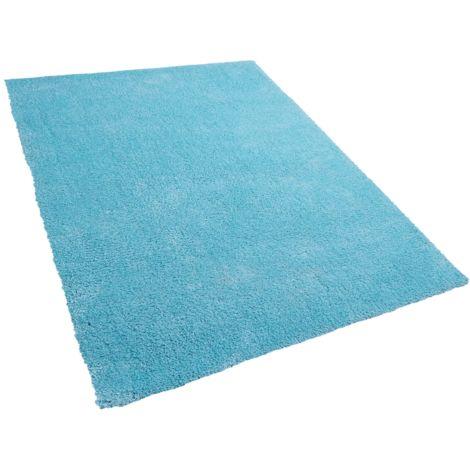 Alfombra shaggy en color azul claro 160x230 cm DEMRE