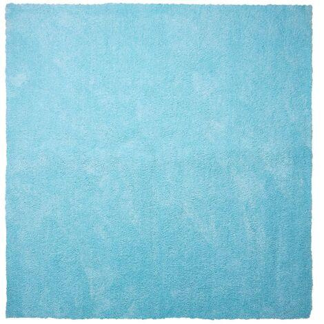 Alfombra shaggy en color azul claro 200x200 cm DEMRE