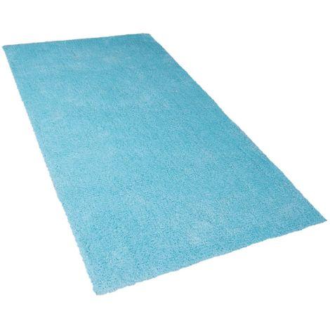 Alfombra shaggy en color azul claro 80x150 cm DEMRE