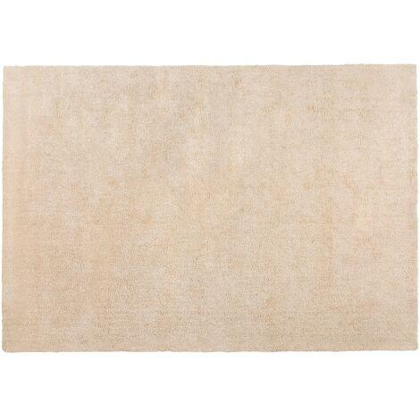 Alfombra shaggy en color beige claro 140x200 cm DEMRE