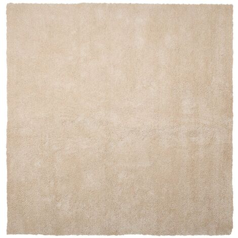 Alfombra shaggy en color beige claro 200x200 cm DEMRE